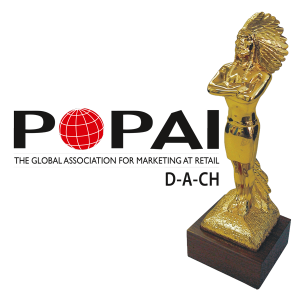 """CREATIV - DISPLAY INTERNATIONAL""""  ist mehrfach ausgezeichnet worden mit Preisen des POPAI"""