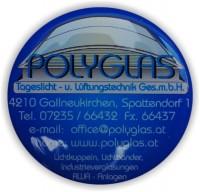 Createc Schild 04, Giessharzkleber, Dome labels,