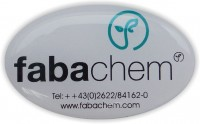 Createc Schild 10, Giessharzkleber, Dome labels,