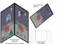 Adventkalender 02, Schokokalender, Weihnachtskalender, Adventskalender